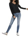ONLY Damen Bluse Pullover  onlPALMA L/s V-Neck Mix Top Jrs [2]