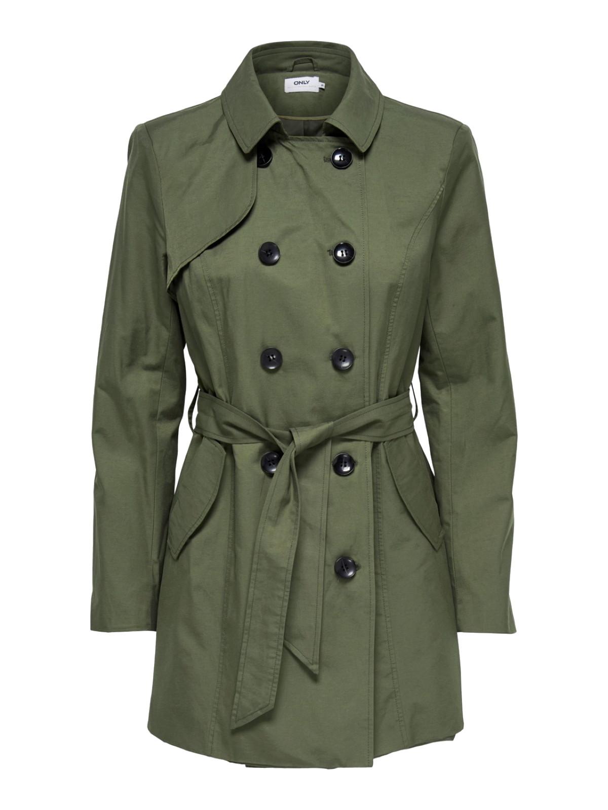 pretty nice 8a098 947ee Details zu ONLY Damen Mantel Übergangs-Jacke onlLAURA Long Trenchcoat  Mantel XS S M L XL