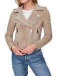 Vero Moda Damen Jacke Wildleder vmRoyce Short Leder-Jacke beige rot [5]