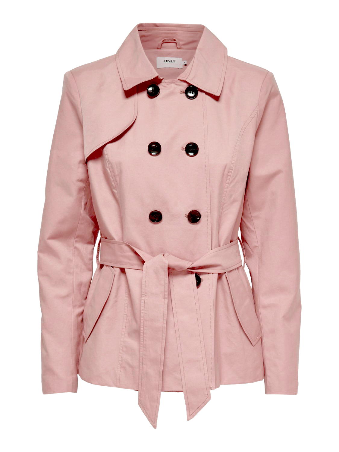 Only Damen Jacke Übergangsjacke Trenchcoat Kurzmantel Ashley Laura