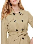 Only Damen Kurz-Mantel Jacke onlLAURA Short Trenchcoat [3]