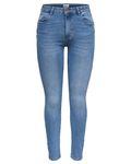 Only Damen Jeans onlDaisy Reg PushUp Skinny blau Ank [3]