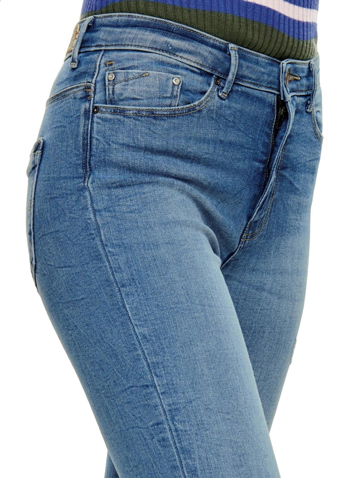 L34 Only Damen Hose Skinny Stretch-Jeans onlPAOLA Highwaist Denim hellblau L30