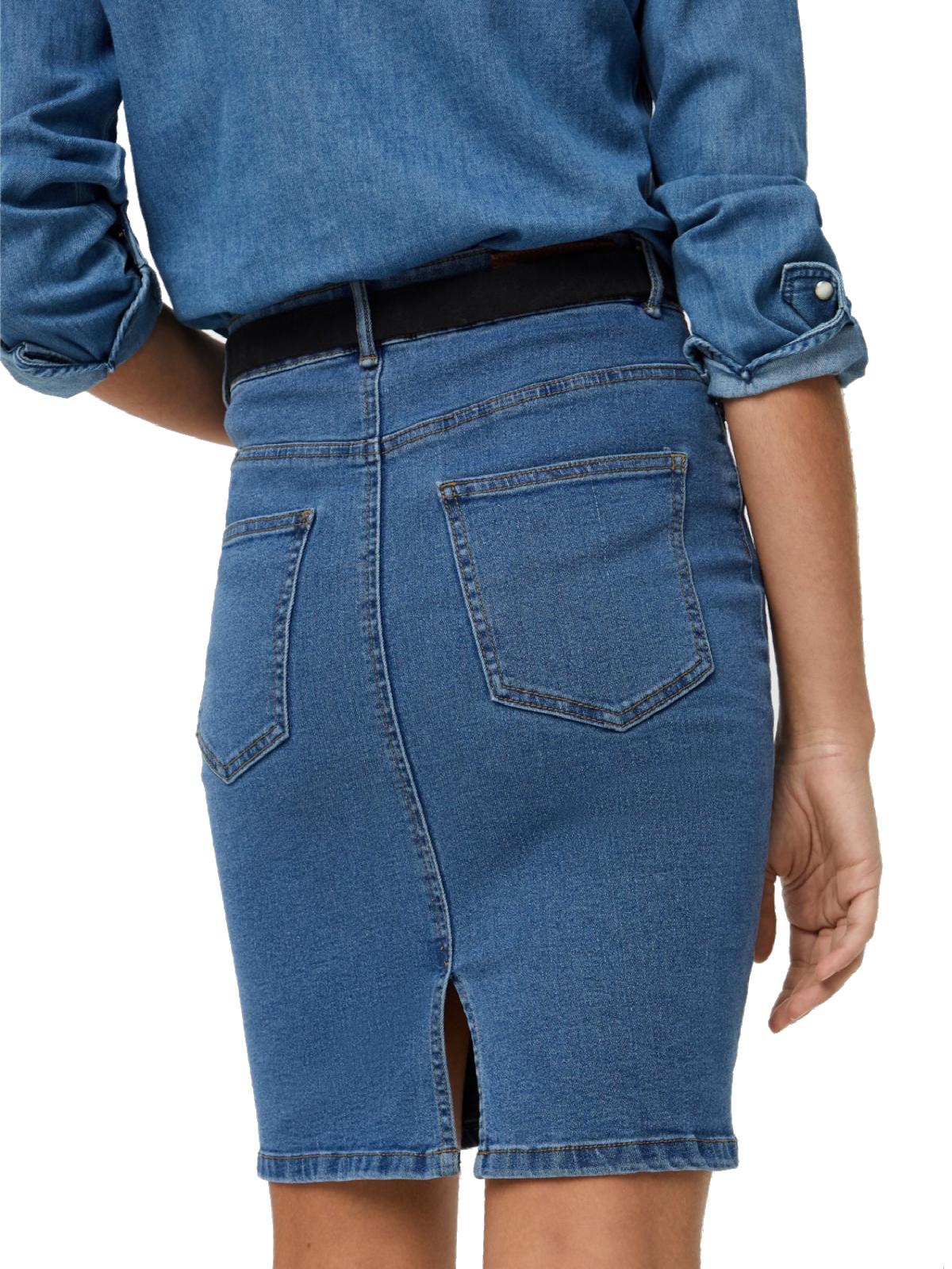 6fcc3a1f40 Vero Moda Damen Jeans-Rock Vmhot Nine Hw Pencil Skirt Damen Röcke