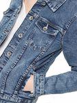 ONLY Damen Jeans-Jacke Übergangsjacke leichten Stretchanteil modernem Look blau [4]