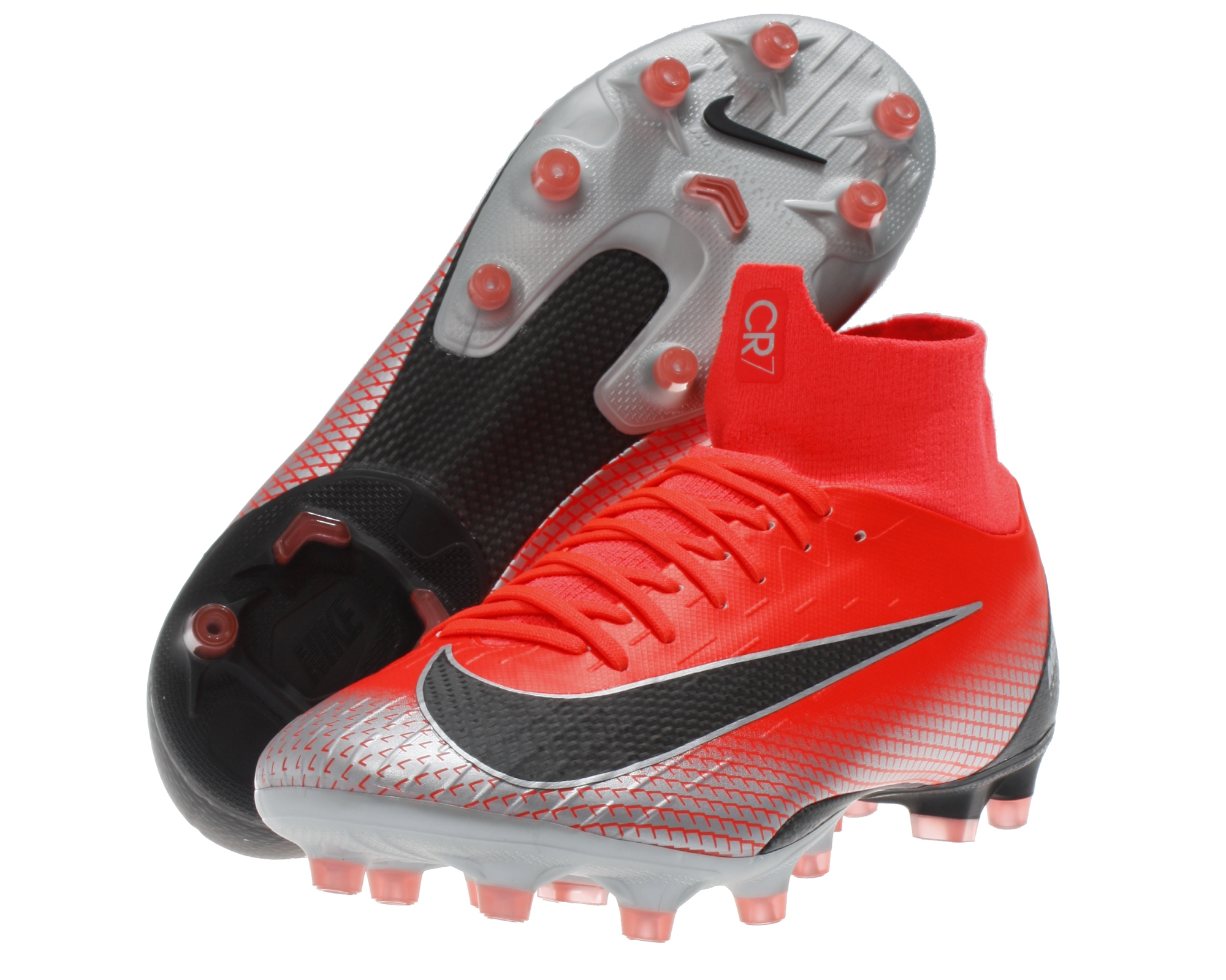competitive price ef0d1 296cd Nike Herren Fußball-Schuhe CR7 Mercurial Superfly VI PRO AG-Pro Kunstrasen  rot