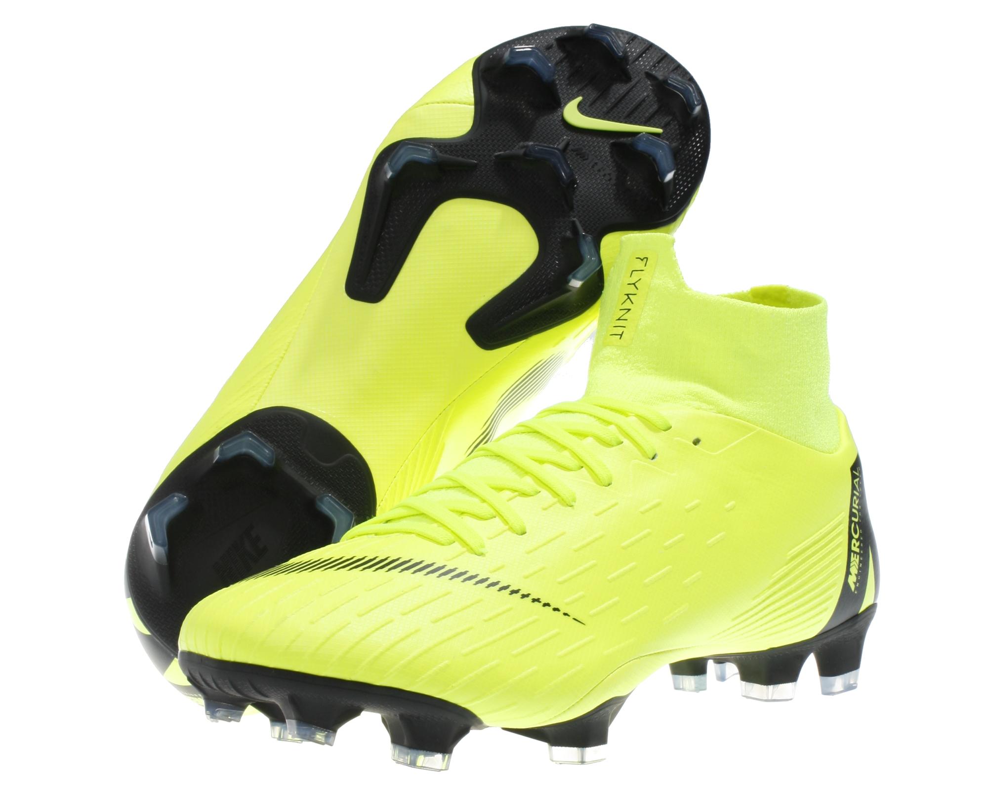 c5a56bab935 Nike Herren Fußball-Schuhe Mercurial Superfly VI PRO FG Rasen gelb ...