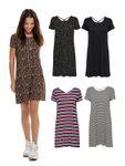 Only Damen kurzes Jersey-Kleid onlBera Lace Up schwarz 001