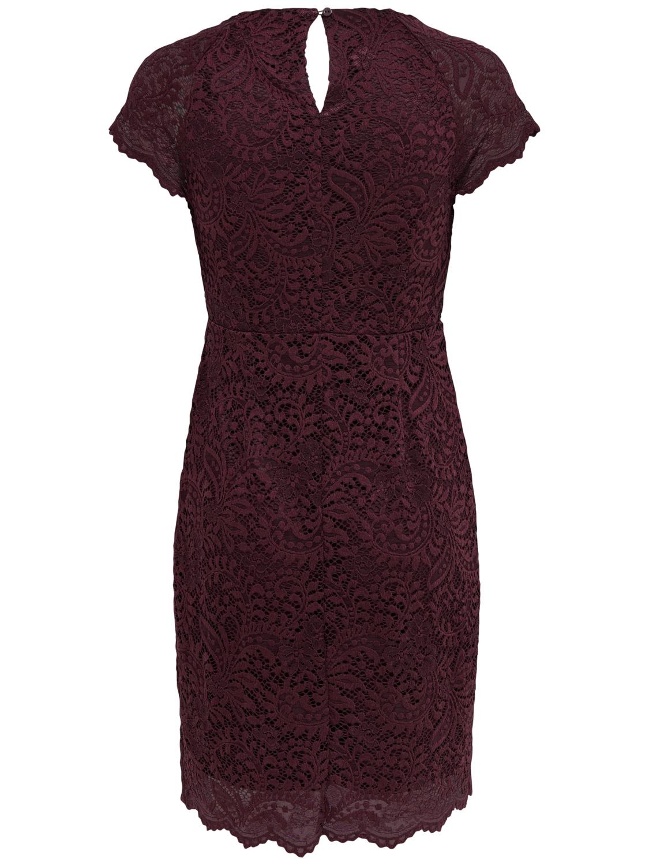 Only Damen Spitzen Cocktail Kleid Gr 36 38 40 15153989 wein-rot festlich Feier