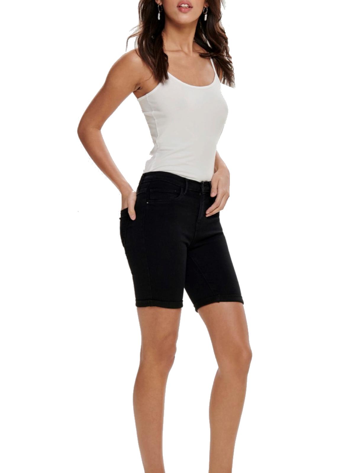 Super süße professioneller Verkauf Top Qualität Only Damen Bermuda Jeans OnlRain Mid Long Shorts Black Pant ...