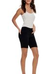 Only Damen Bermuda Jeans OnlRain Mid Long Shorts Black  [1]