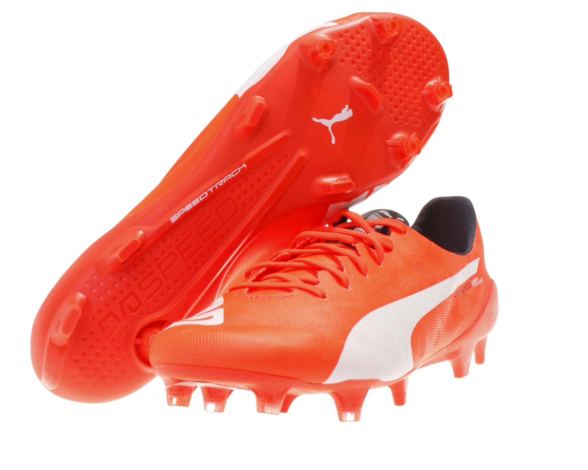 Details zu Puma Herren Fußball Schuhe evoSpeed SL FG gelb blau rot Profischuh Naturrasen