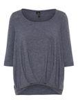 Vero Moda Damen Bluse vmZhei 3/4 Fold-Up Top schwarz blau [4]
