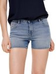 Only Damen Jeans Hotpants Shorts onlCarmen hellblau [3]