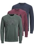 JACK & JONES Herren Pullover JprScott BLU. Sweat Crew Neck [1]