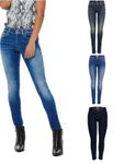 Only Damen Jeans-Hose Regular High Waist PushUp Skinny Stretch Slim dunkel-blau [1]