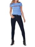 Only Damen Jeans-Hose Regular High Waist PushUp Skinny Stretch Slim dunkel-blau [3]