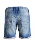 Jack & Jones Herren kurze Hose Jeans-Shorts JjiRick Denim blau [4]