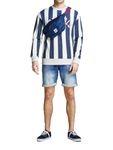 Jack & Jones Herren kurze Hose Jeans-Shorts JjiRick Denim blau [1]