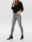 Only Damen Hose Skinny Jeans OnlBlush Ankel Raw gefranst [4]