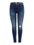 Only Damen Hose Skinny-Jeans onlPAOLA Medium Blue Denim 001