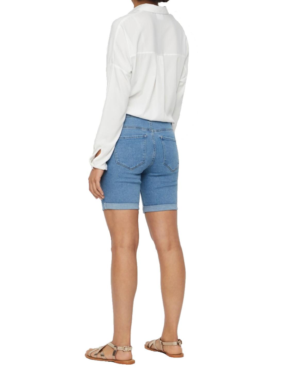 Vero Moda Damen Chino Shorts Flame Frauen Hotpants kurze Hose Bermuda Gürtel