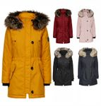 Only Damen Winter Mantel onlIris Parka Jacke mit Fellkapuze [1]