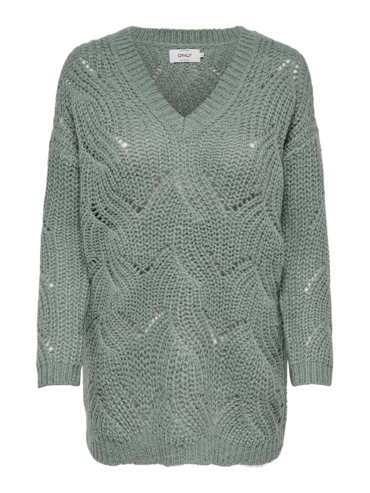 new arrival 1666b 2beb0 Only Damen langer grob Strick Sweater onlHavana L/S Pullover ...
