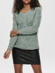 Only Damen langer grob Strick Sweater onlHavana L/S Pullover  [3]