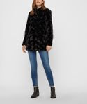 Vero Moda Damen Vmcurl High Neck Faux Fur Jacket Jacke Kunstfell [2]