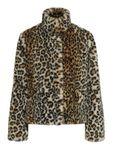 Only Damen Kunstfell Jacke Teddy Fell Leopardenmuster  [1]