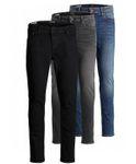 Jack & Jones Herren Jeans Hose Slim Fit Skinny - schwarz blau grau [1]