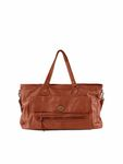 Pieces Leder-Tasche Totally Leather Travel Bag picante rot braun [1]
