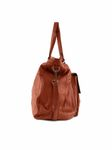 Pieces Leder-Tasche Totally Leather Travel Bag picante rot braun [3]