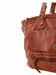 Pieces Leder-Tasche Totally Leather Travel Bag picante rot braun [4]
