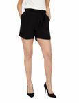 Vero Moda Damen kurze Hose - vmElla Shorts in schwarz mit Bindegürtel [1]