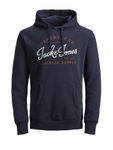 Jack & Jones Herren Pullover JjeLogo Sweat Hood - Plus Size [2]