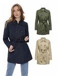 ONLY Damen Mantel Jacke onlValeria langer Trenchcoat [1]