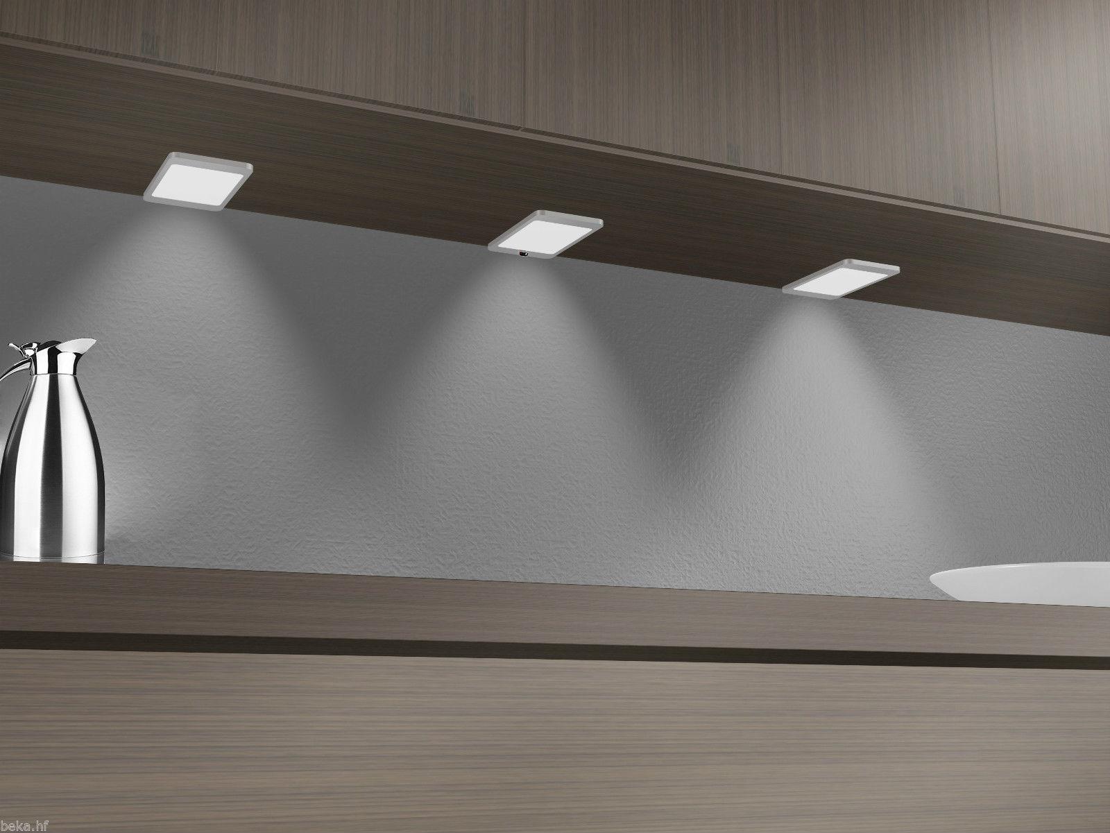 LED Unterbauleuchte, silber-grau, warmweiss, mit Sensor, 2er SET ...