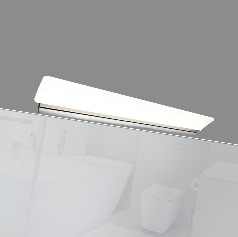 led 450mm bad spiegel leuchte bad leuchte spiegellampe aufbau leuchte verchromt ebay. Black Bedroom Furniture Sets. Home Design Ideas