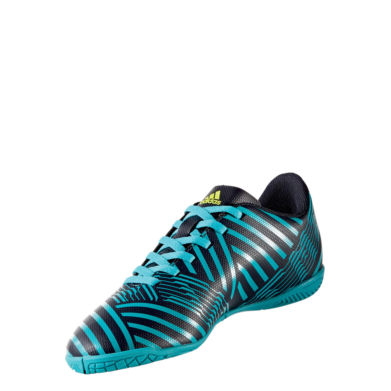 Details zu adidas Performance Kinder Fußballschuh Nemeziz 17.4 IN J schwarztürkis (S82465)
