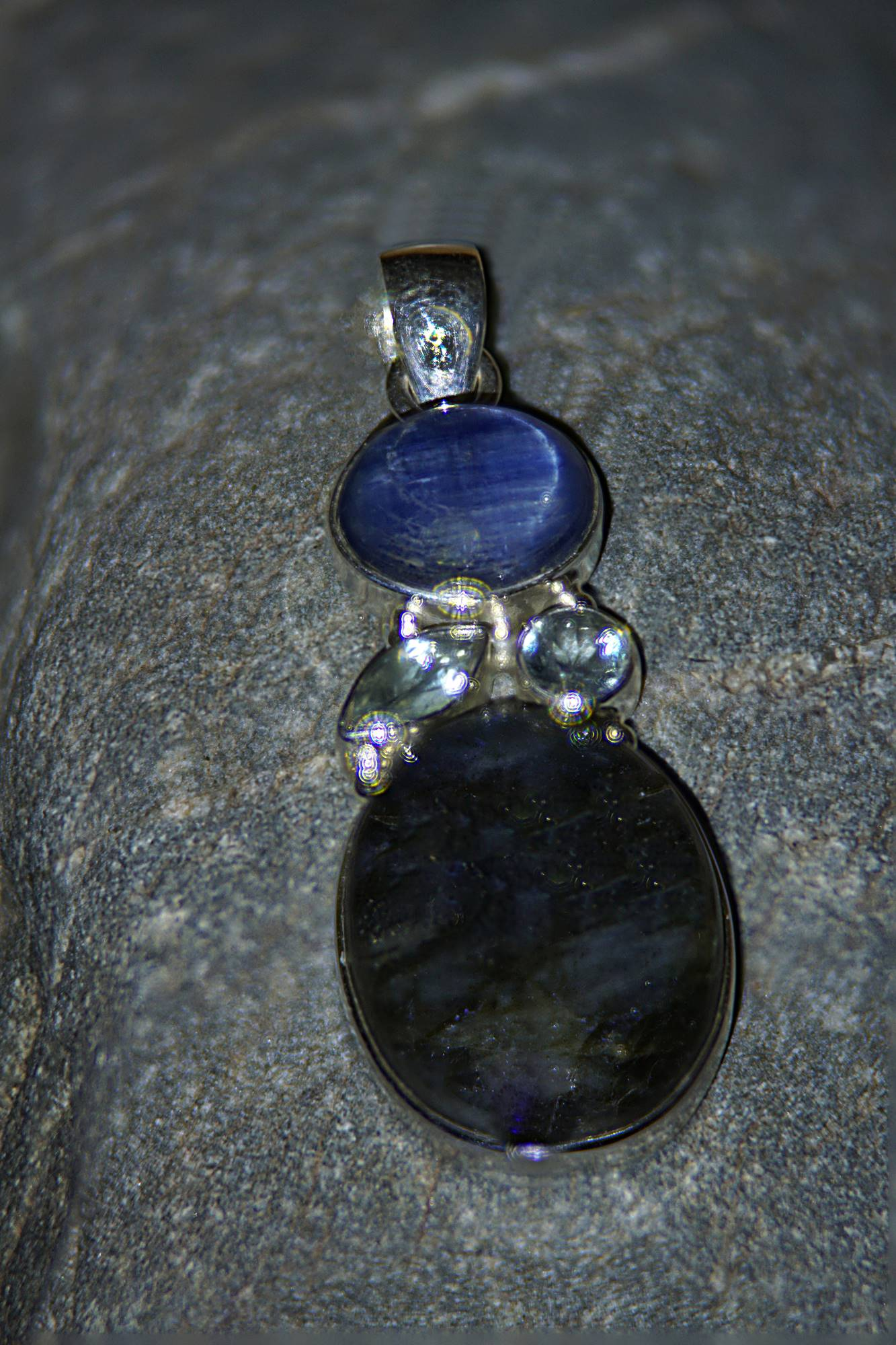 Kettenanhänger 925 Silber mit Labradorit