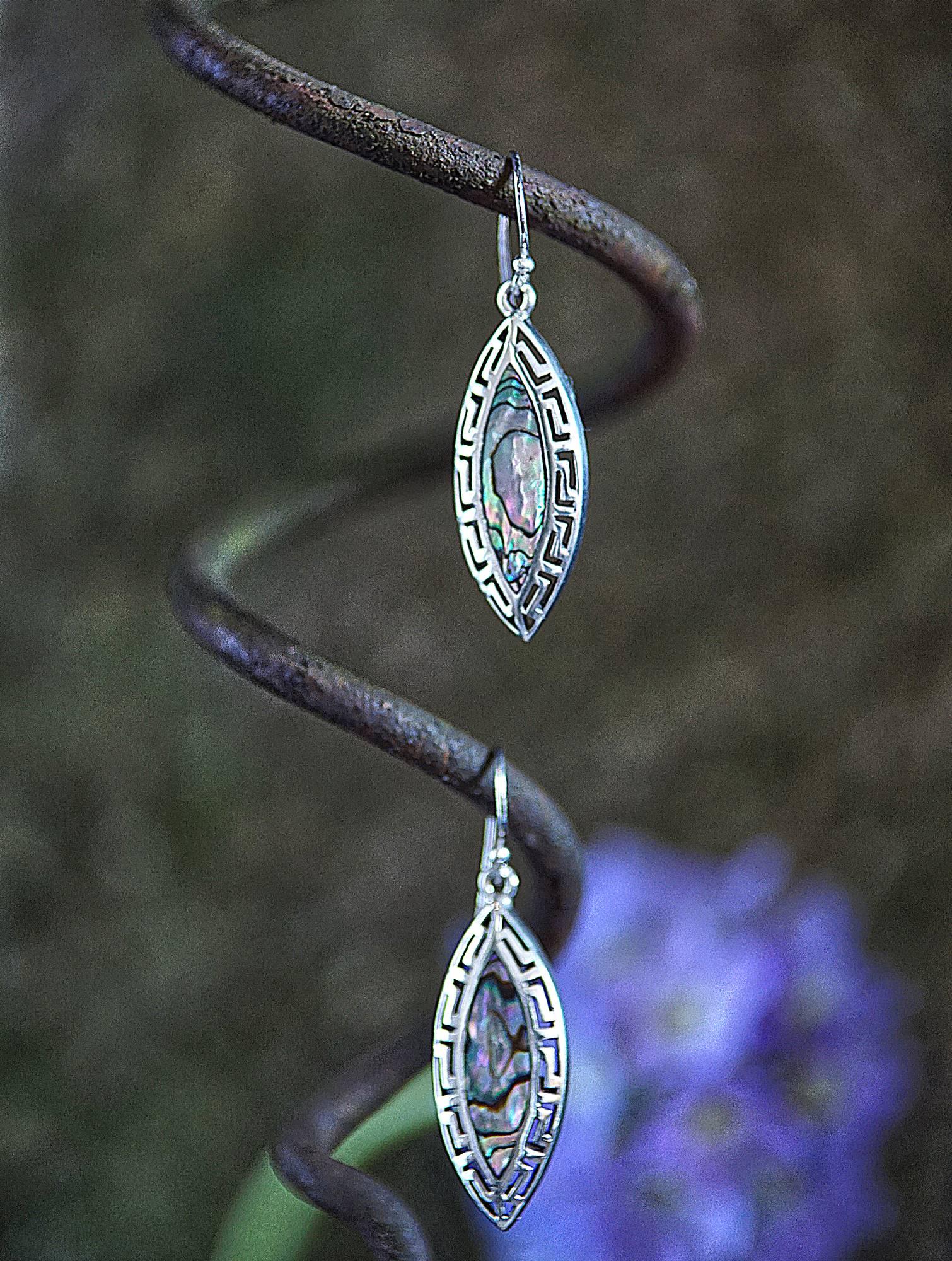 Ohrringe 925 Silber mit Paua Muschel