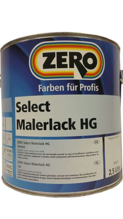 Zero Select Malerlack Weiß HG Holz, Metall 2.5 L