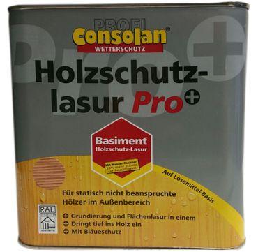 Consolan Profi Wetterschutz Holzschutzlasur 2in1 Pro+ Seidenmatt 2,5 Liter Farbwahl