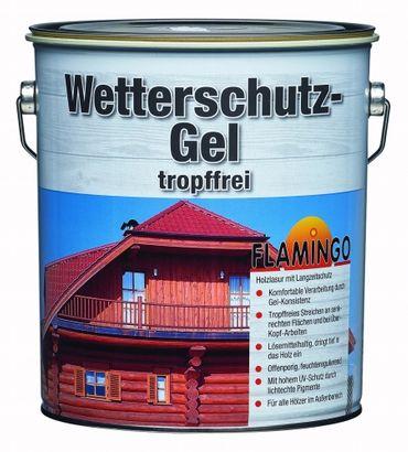 Meffert Wetterschuzz-Gel tropffrei Flamingo Lösemittelhaltig für Außen seidenmatte Eiche 5 L.