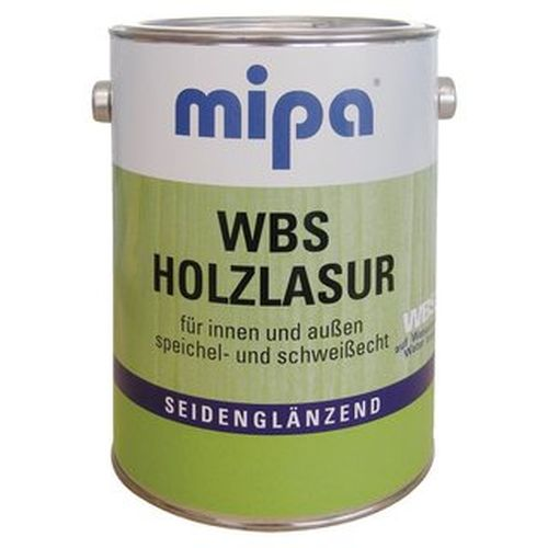 Mipa WBS Holzlasur für innen &außen Seidenglänzend 0,75 ml Farbton Wählbar