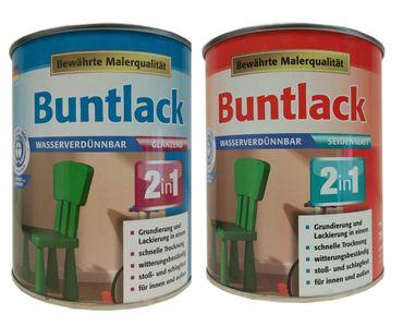 Meffert 2in1 Buntlack Bewährte Malerqualität 750 ml Matt bis Glänzend Farbton Wählbar