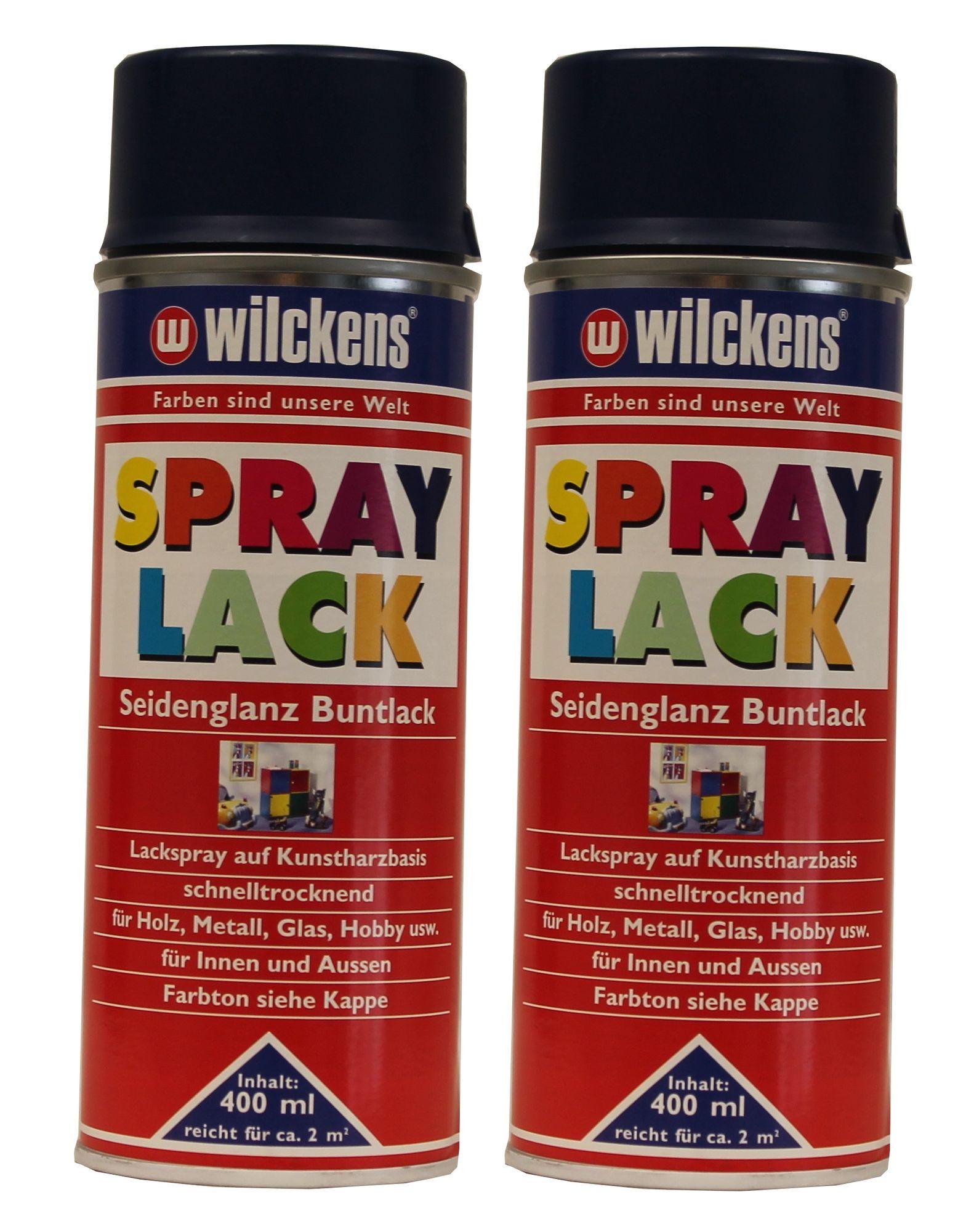 2 x Wilckens Spraylack Seidenglanz Buntlack 400ml