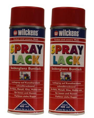 2 x Wilckens Spraylack Seidenglanz Buntlack 400ml – Bild 1